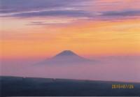 No.19 夕焼けに浮かぶ富士山