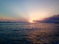 no34 夕日、南の島から