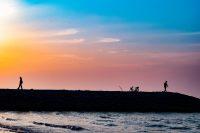 NO.027「ある日の夕方の海辺」