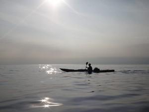 「知床の海上でうっとり」