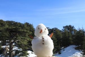No.055 「レバノンで雪だるま」