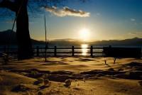No33 支笏湖の夕日